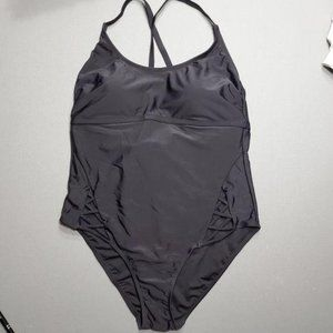 Black One Piece Swimsuit with Hip Cutouts